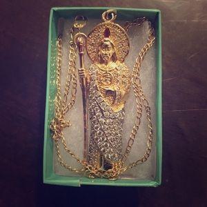 18k Gold Necklace San Judas